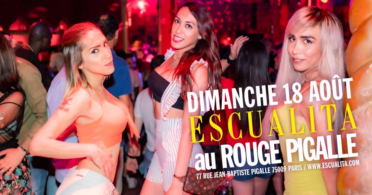 Soirée Escualita Transsexuel travesti dimanche soir au Rouge Pigalle Paris