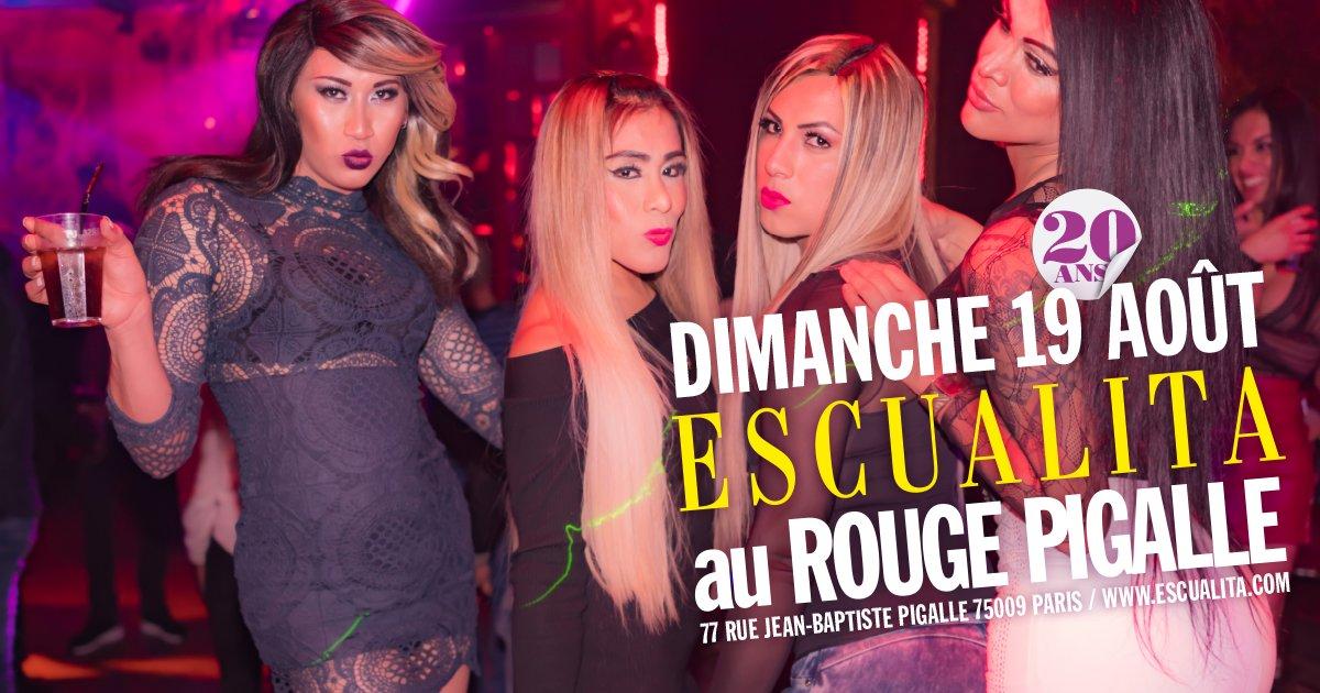 Soirée Escualita Transsexuelle au Rouge Pigalle Paris